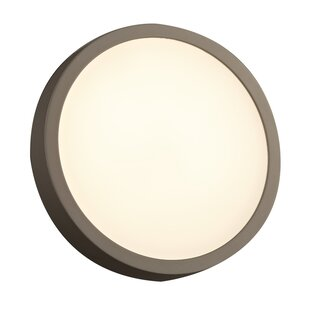 Compare prices Nerstrand 1-Light Outdoor Flush Mount By Latitude Run
