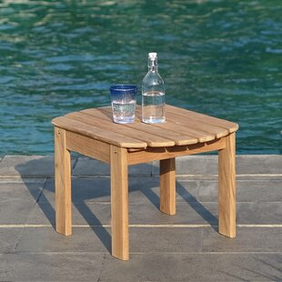 Cynthia Teak Adirondack Side Table by Bayou Breeze Cool