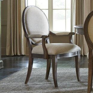 Pond Brook Upholstered Dining Arm Chair (Set of 2)