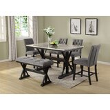 Kensa 6 Piece Counter Height Dining Set by Charlton Home®
