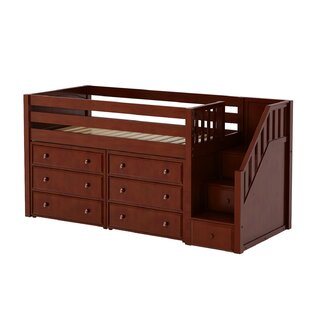 Great Low Twin Loft Bed with Storage by