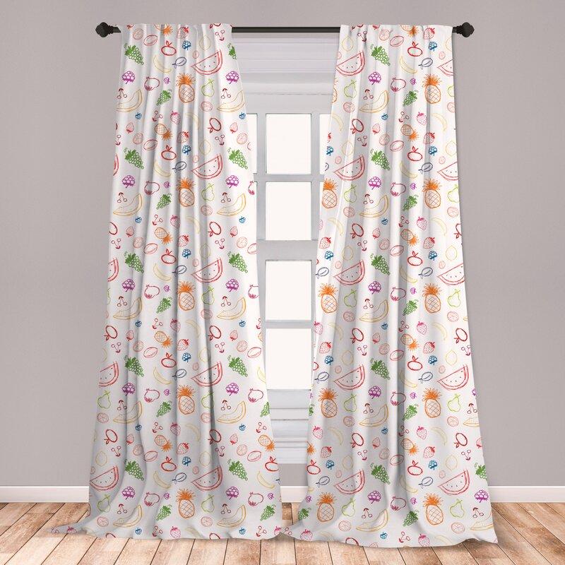 East Urban Home Fruit Room Darkening Rod Pocket Curtain Panels Wayfair