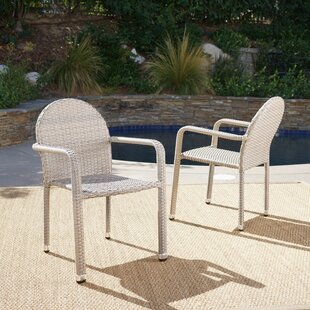 Wiesner Stacking Patio Dining Chair (Set of 2)