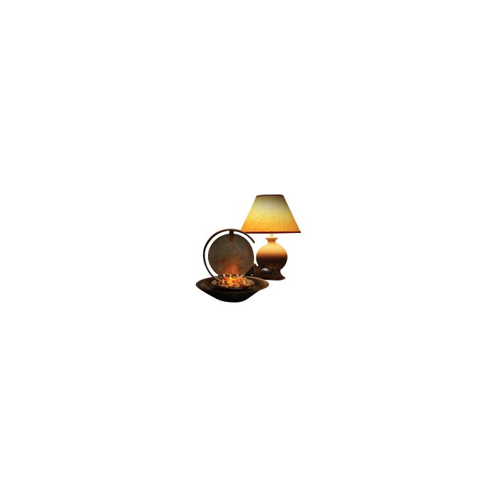 Moonshadow Copper Table Top Fountain With Light