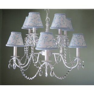 Silly Bear Lighting Majestic Queen 10-Light Shaded Chandelier