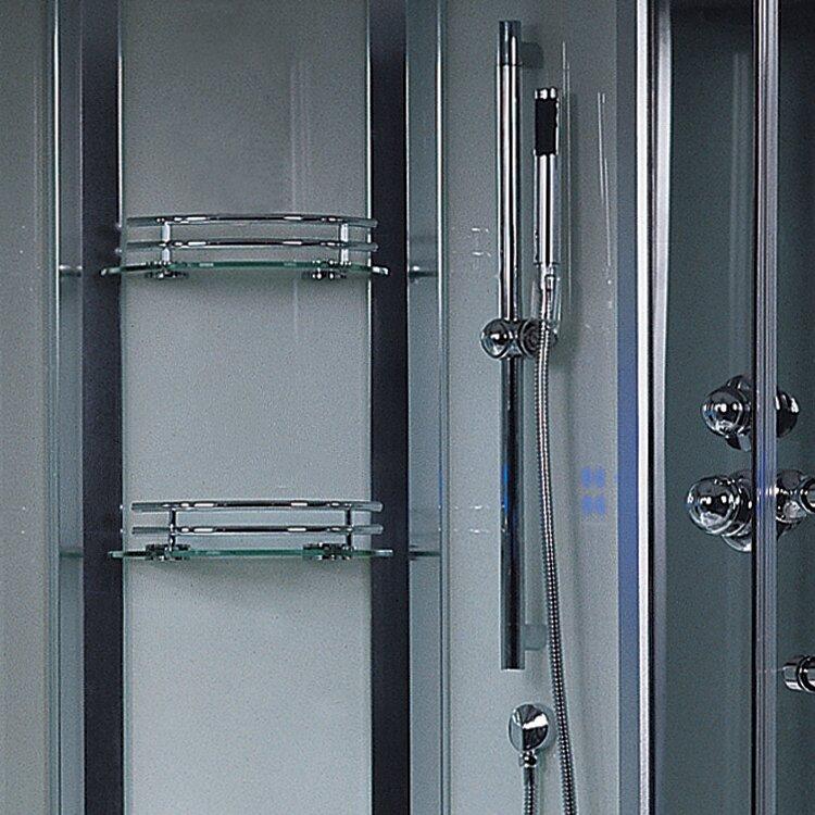 Ariel Bath Platinum 3 kW Steam Shower with Whirlpool Bathtub ...