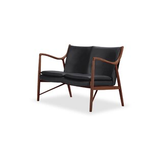 Rashad Leather Loveseat by Corrigan Studio New Design