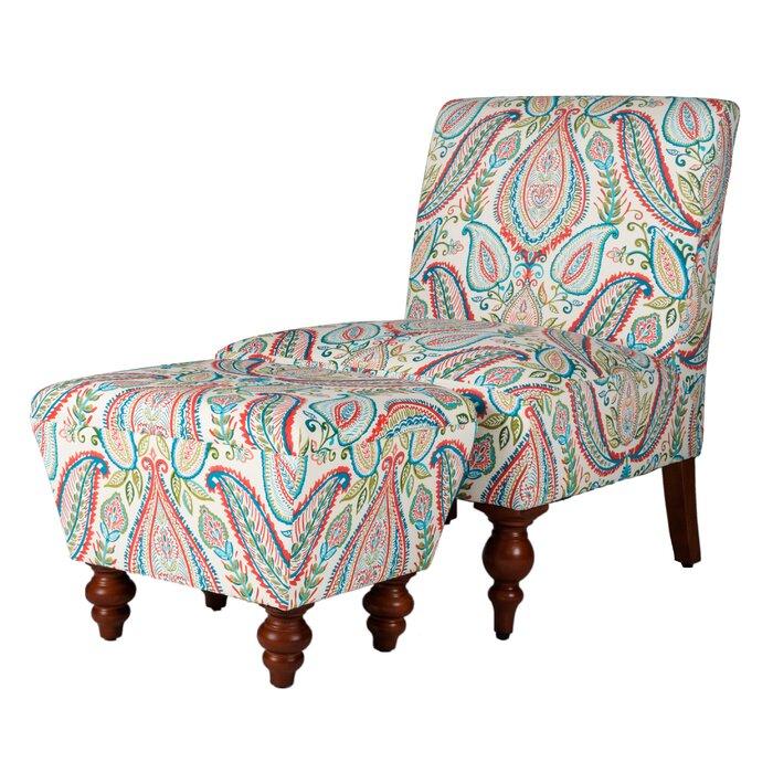 Tremendous Yareli Slipper Chair And Ottoman Bralicious Painted Fabric Chair Ideas Braliciousco