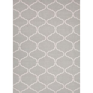 Affordable Caresse Hand-Woven Luxurious Gray Area Rug By Willa Arlo Interiors