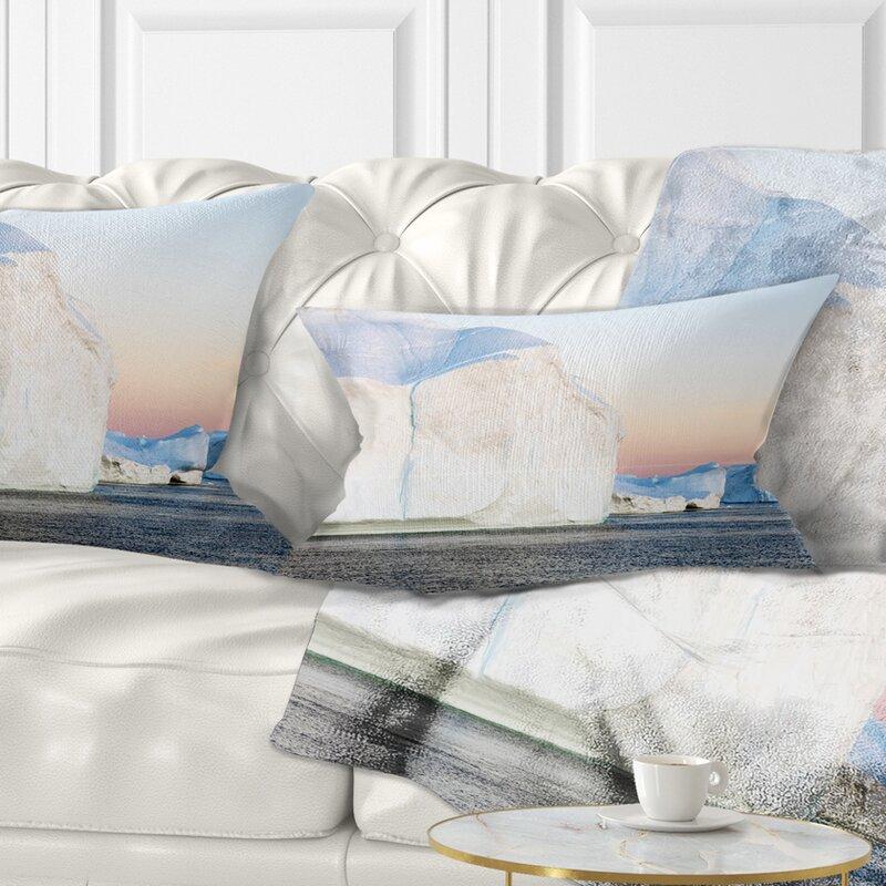 East Urban Home Seashore Greenland Ices Of Polar Regions Lumbar Pillow Wayfair