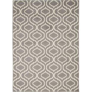 Eloy Geometric Gray/Ivory Area Rug by House of Hampton