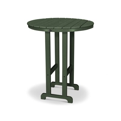 """Monterey Bay Plastic/Resin Bar Table Trex Outdoor Table Top Size: 48"""", Finish: Rainforest Canopy"""