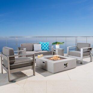 Orren Ellis Rheba 5 Piece Sofa Set with Cushions