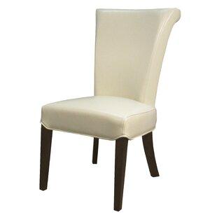 Lehner Genuine Leather Upholstered Dining Chair (Set of 2)
