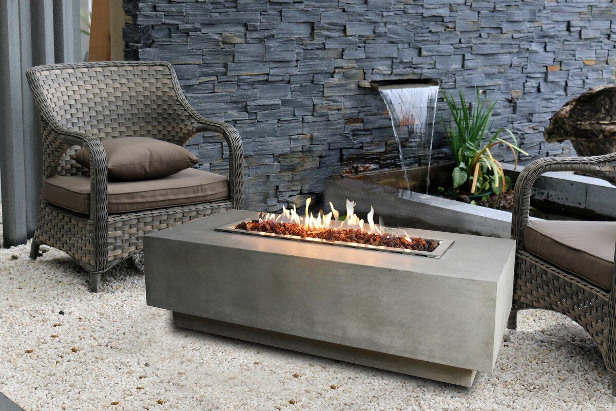 elementi granville concrete gas fire pit table reviews wayfair. Black Bedroom Furniture Sets. Home Design Ideas