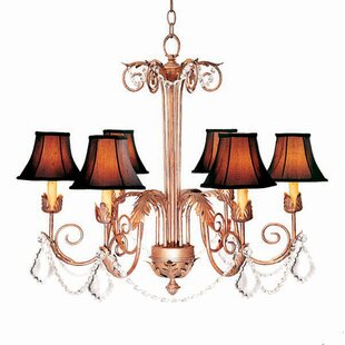 2nd Ave Design Lindsey 6-Light Shaded Chandelier