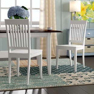 Amityville Solid Wood Dining Chair (Set of 2) Beachcrest Home