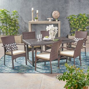 Gilmartin Outdoor 7 Piece Dining Set with..