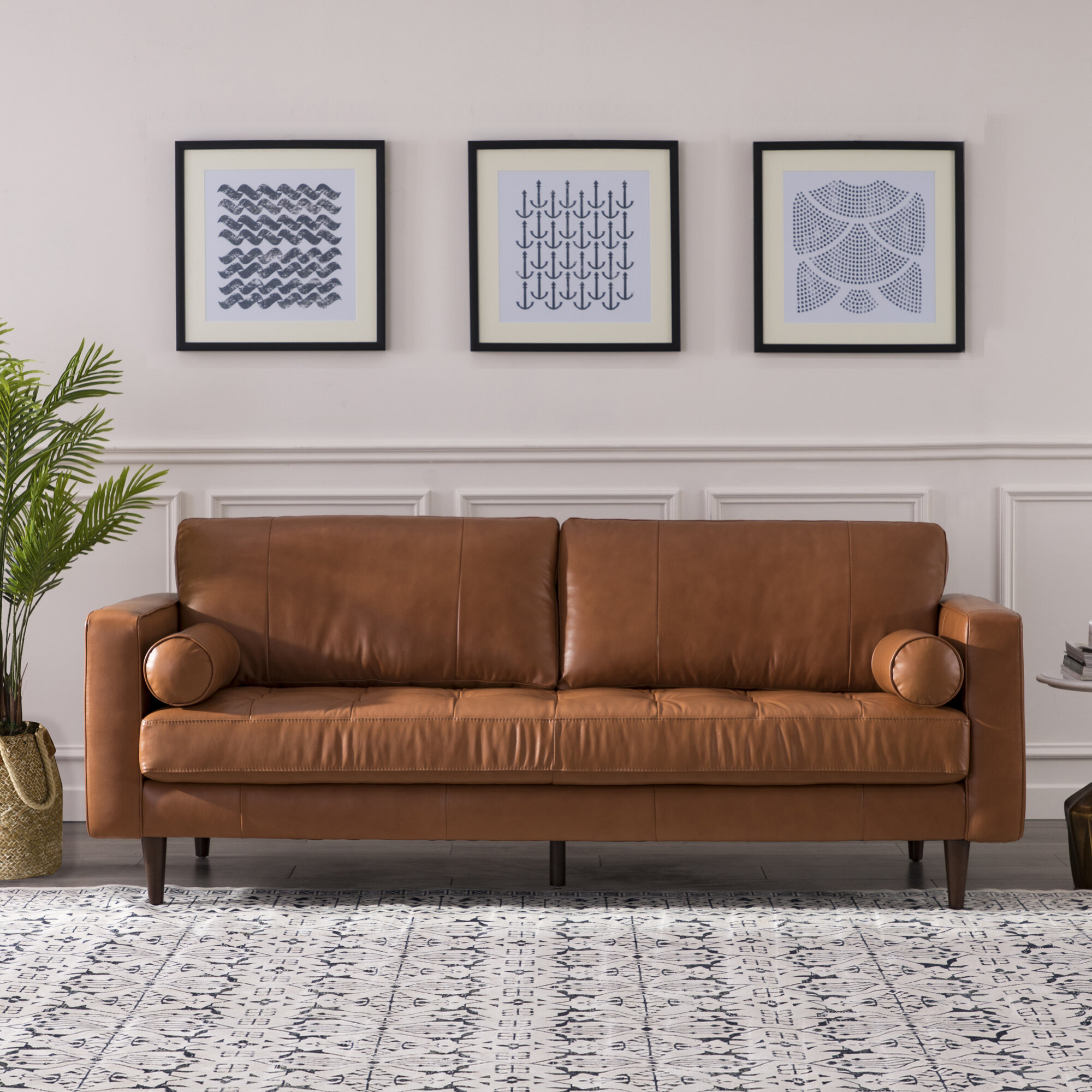 Bickford Leather Sofa Reviews Joss
