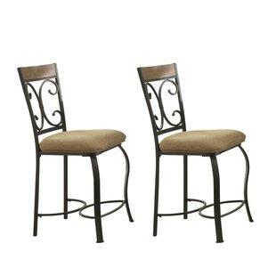 San Marino Metal 24 Bar Stool (Set of 2) by Fleur De Lis Living