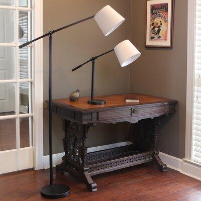Gracie Oaks Han 56 Inch Swing Arm Floor Lamp