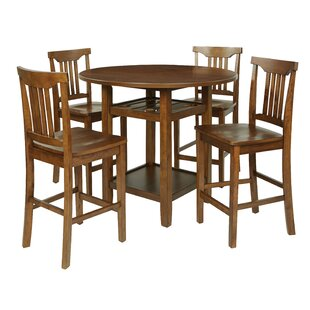 East Village 5 Piece Counter Height Breakfast Nook Dining Set Breakwater Bay