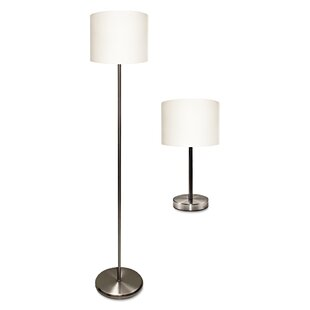 Ledu 2 Piece Table and Floor Lamp Set