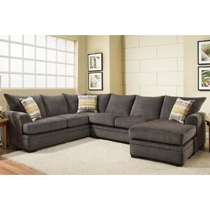 Louis Sectional  sc 1 st  Wayfair : grey sectional couches - Sectionals, Sofas & Couches