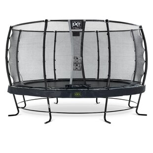 Elegant Premium 15' Backyard Above Ground Trampoline With Safety Enclosure By Exit Toys