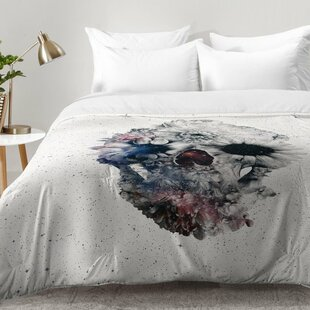 Floral Skull Comforter Set by East Urban Home