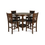 Jackins 5 - Piece Rubberwood Solid Wood Dining Set by Winston Porter