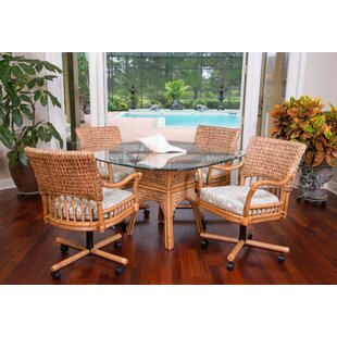Pringle 5 Piece Dining Set Bay Isle Home