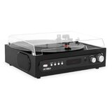 All-in-1 Bluetooth Record Player with Built-in Speakers and 3-Speed Turntable