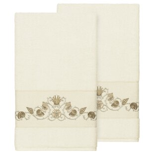 Folmar Embellished Turkish Cotton Bath Towel (Set of 2)
