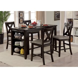 Hornbeck 5 Piece Dining Set Alcott Hill