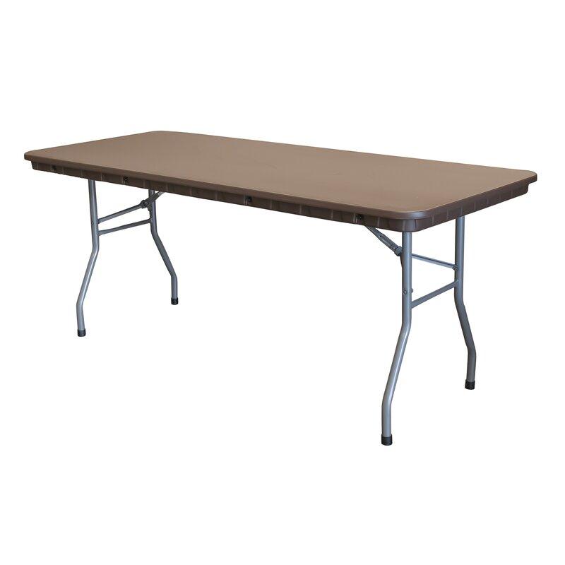 Pre Sales Rhino Plastic Rectangular Folding Table Wayfair Ca