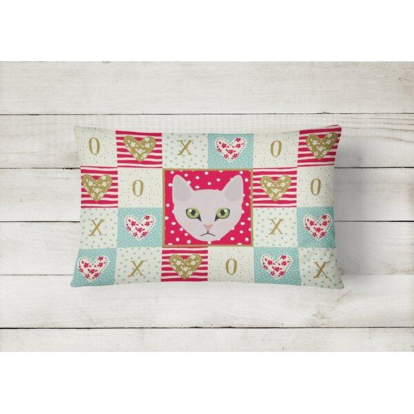 The Holiday Aisle Hartly Burmilla Cat Love Outdoor Rectangular Cushion With Filling Wayfair