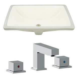 Affordable Ceramic Rectangular Undermount Bathroom Sink with Faucet and Overflow By Royal Purple Bath Kitchen