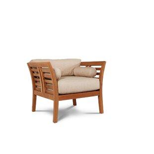 Fleischer Teak Patio Chair with Sunbrella Cushion by Bloomsbury Market