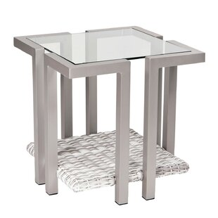 Imprint Glass Side Table by Woodard