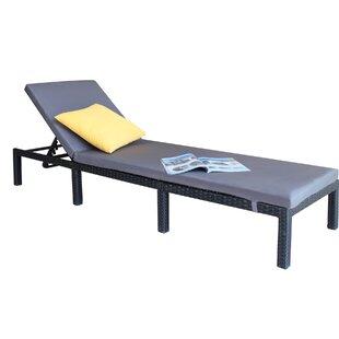 Bingen Outdoor Adjustable Reclining Chaise Lounge with Cushion by Brayden Studio