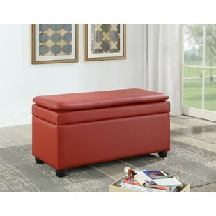Red Barrel Studio Cosey Faux Leather Storage Bench