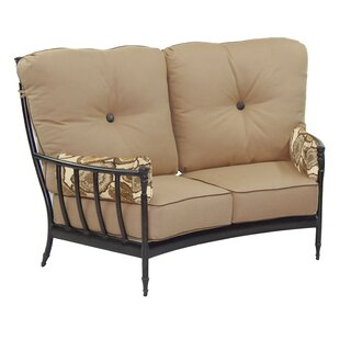 Provence Crescent Loveseat with Cushions by Leona