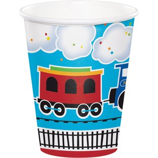 All Aboard Train Paper Disposable Cup (Set of 24)