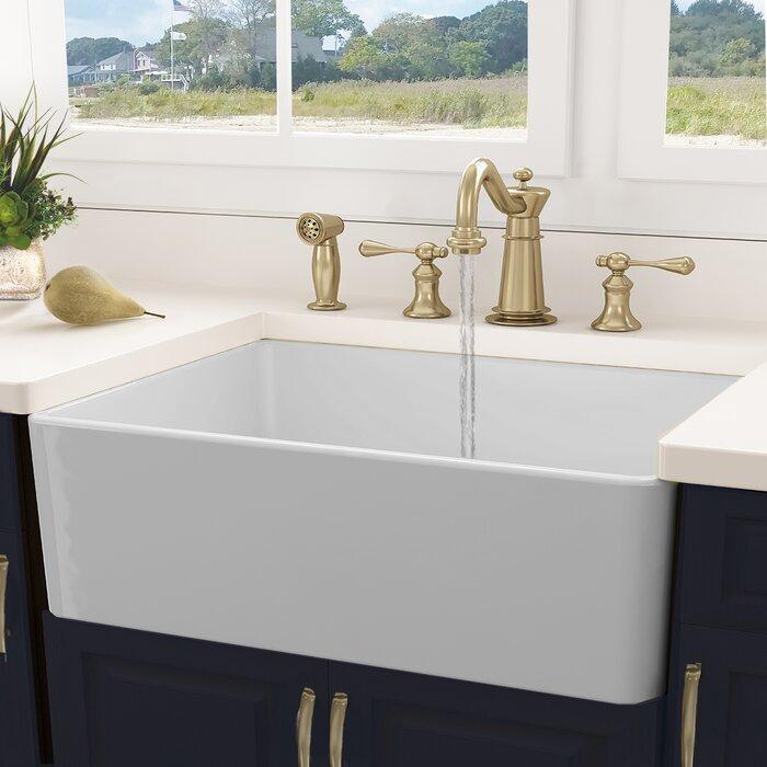 Awesome Cape 30 L X 18 W Farmhouse Kitchen Sink With Basket Strainer Download Free Architecture Designs Scobabritishbridgeorg