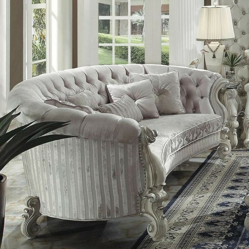 Stapler Traditional On Tufted Sofa