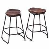 Hendricks Metal Swivel Bar Stool (Set of 2) by 17 Stories