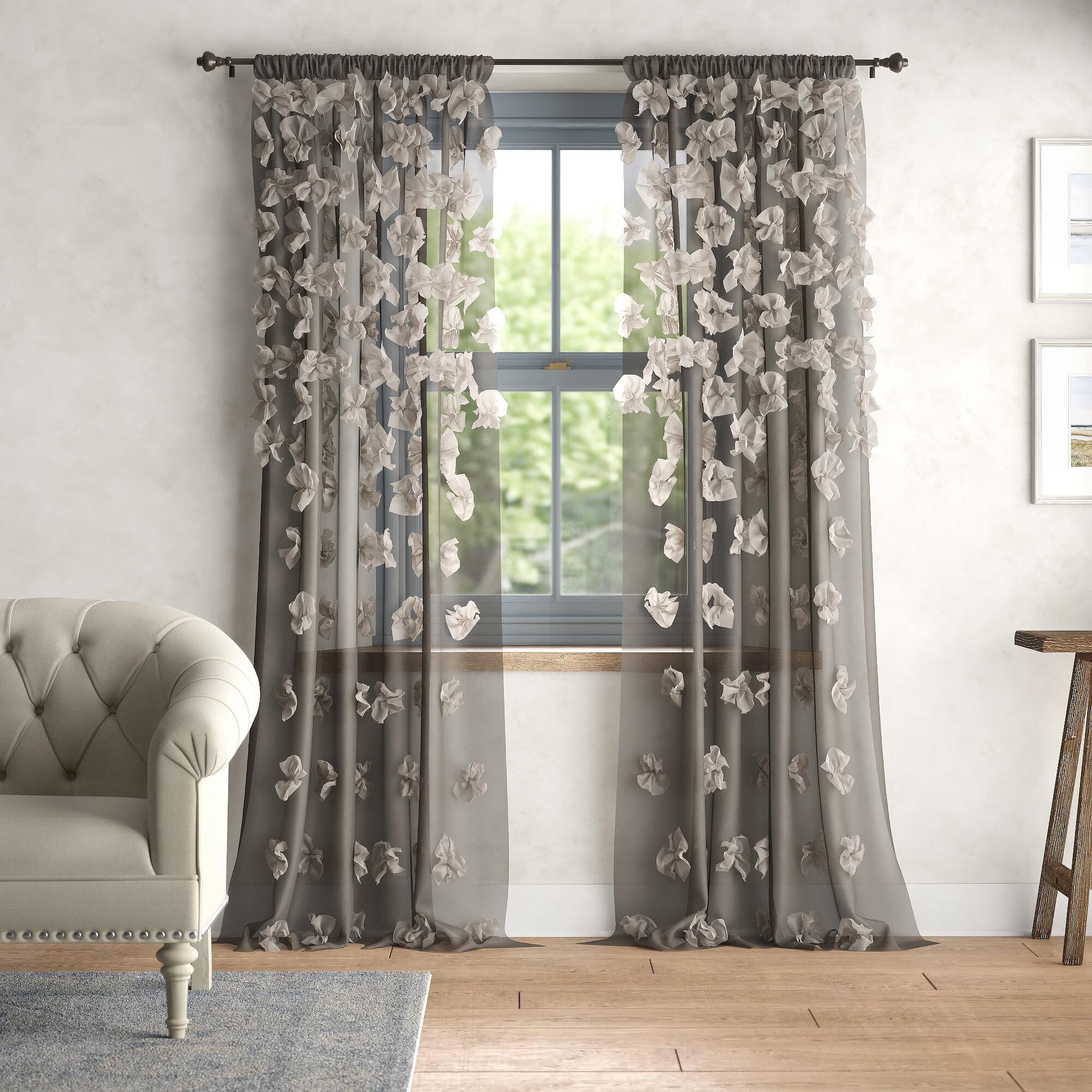 Ophelia Co Ray Rod Pocket Single Curtain Panel Birch Lane