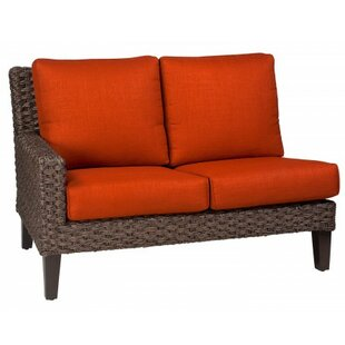 Mona Left Arm Facing Loveseat Sectional Piece With Cushions by Woodard Best