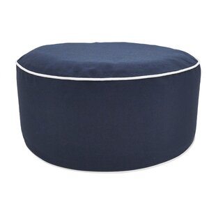 Villalba Solid Trimmed Inflatable Ottoman by Breakwater Bay